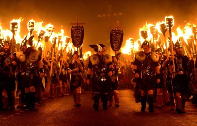 İskoçya Up Helly Aa Fire Festivali