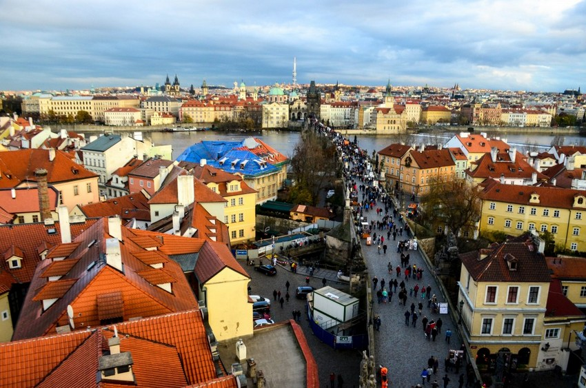 Best views of Prague from Old Town bridge tower