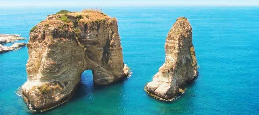 Beyrut Gezi Rehberi - Güvercin Kayalıkları